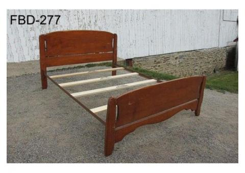 Double Wood Bed.